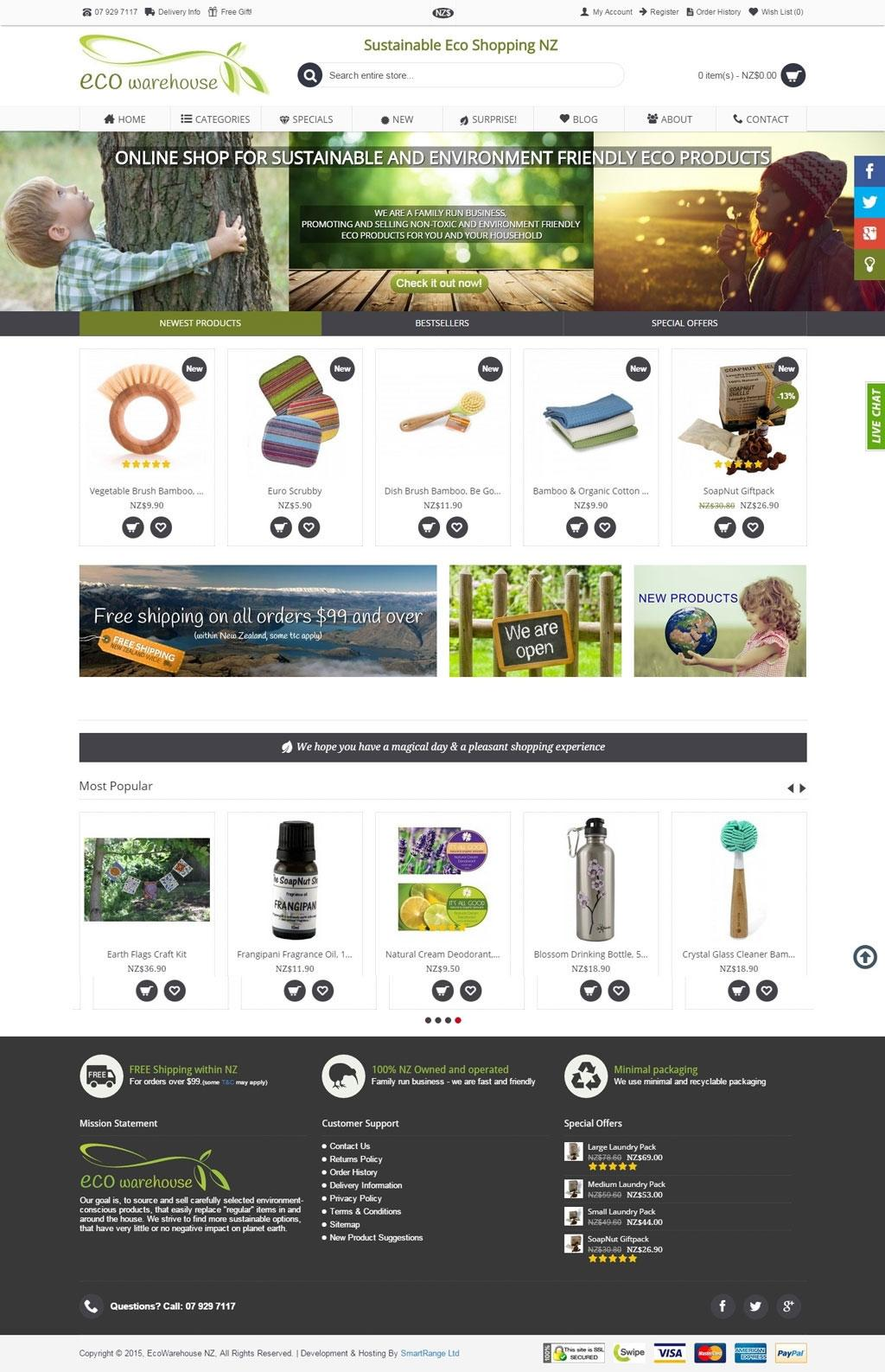 Eco Warehouse - Sustainable Eco Shopping